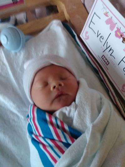 Stovers welcome Evelyn Faith