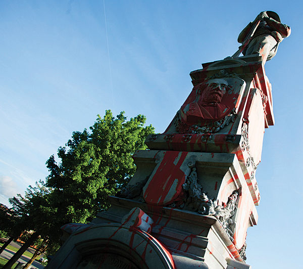 Monument vandals