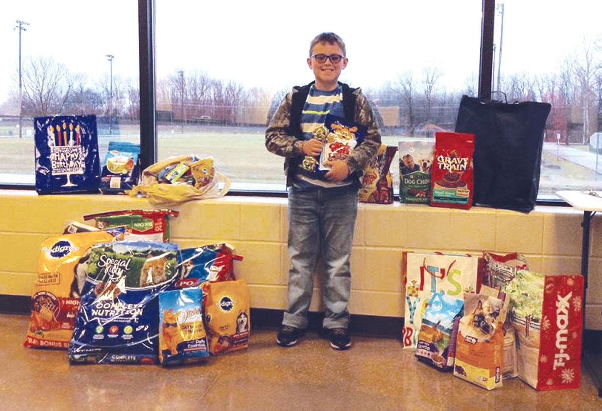 Birthday boy requests pet food, not gifts