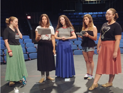 """Theater Production Rehearsal for """"As It Is In Heaven"""""""