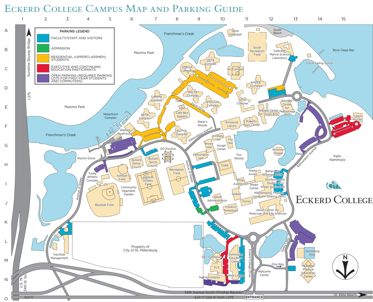 eckerd college campus map Eckerd Campus Safety Cracks Down On Parking Violations News eckerd college campus map