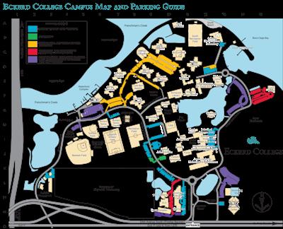 Parking map of Eckerd