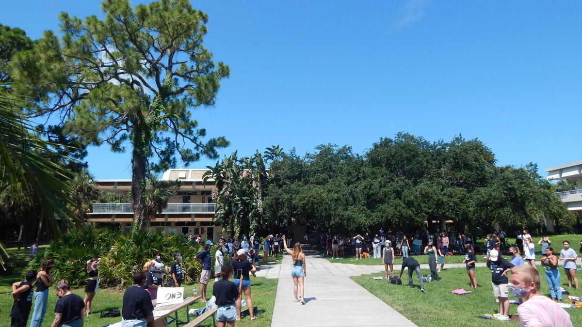 """""""Black students matter"""":  Students, faculty, staff peacefully protest"""