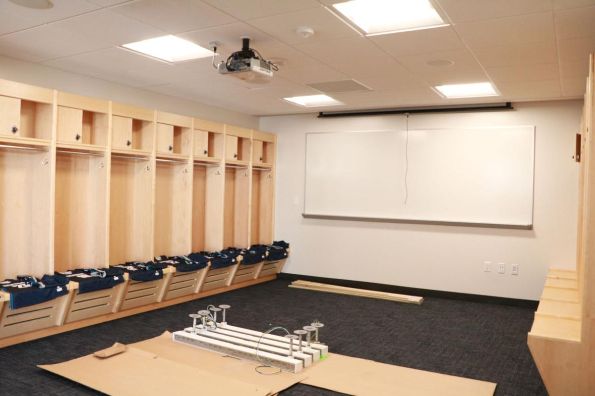 Locker Rooms in McArthur Gym Renovations Phase One