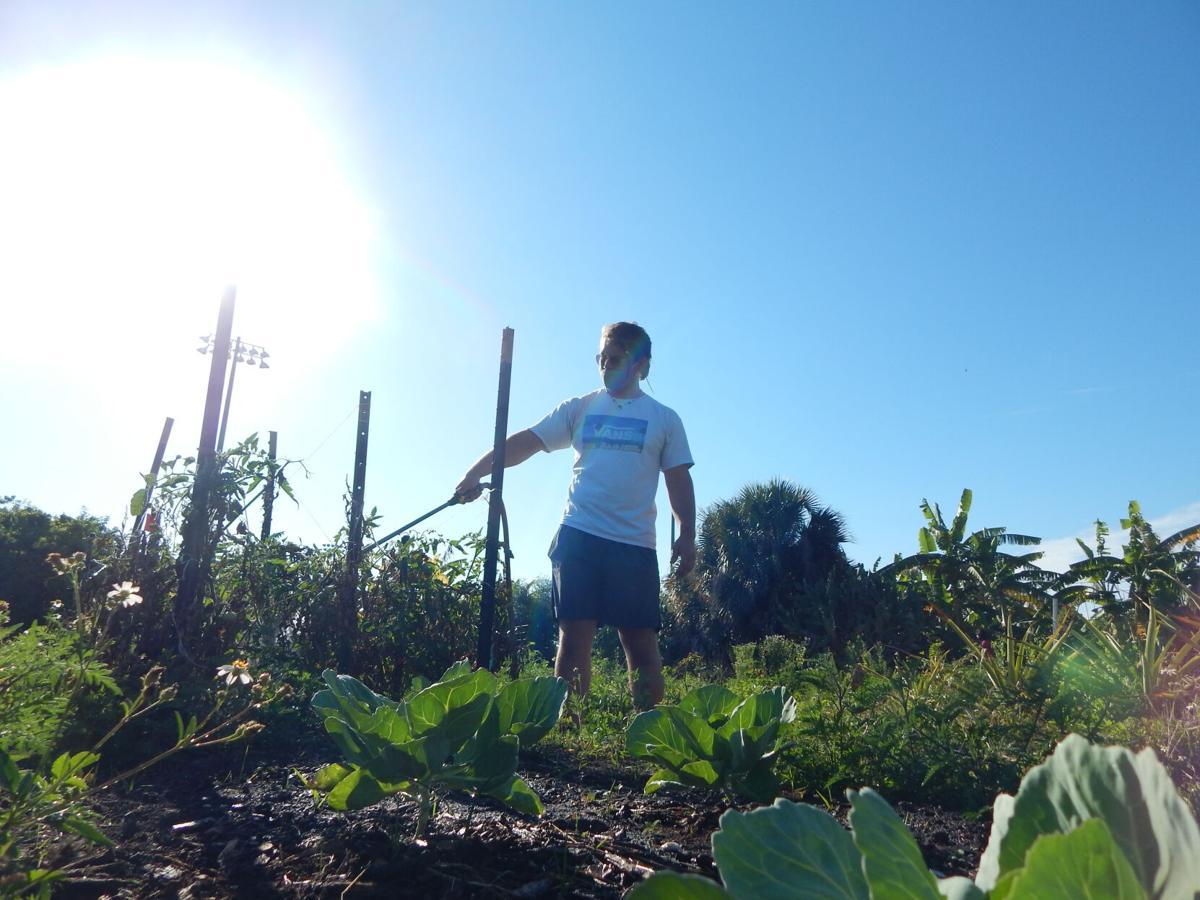 Stratman watering plants