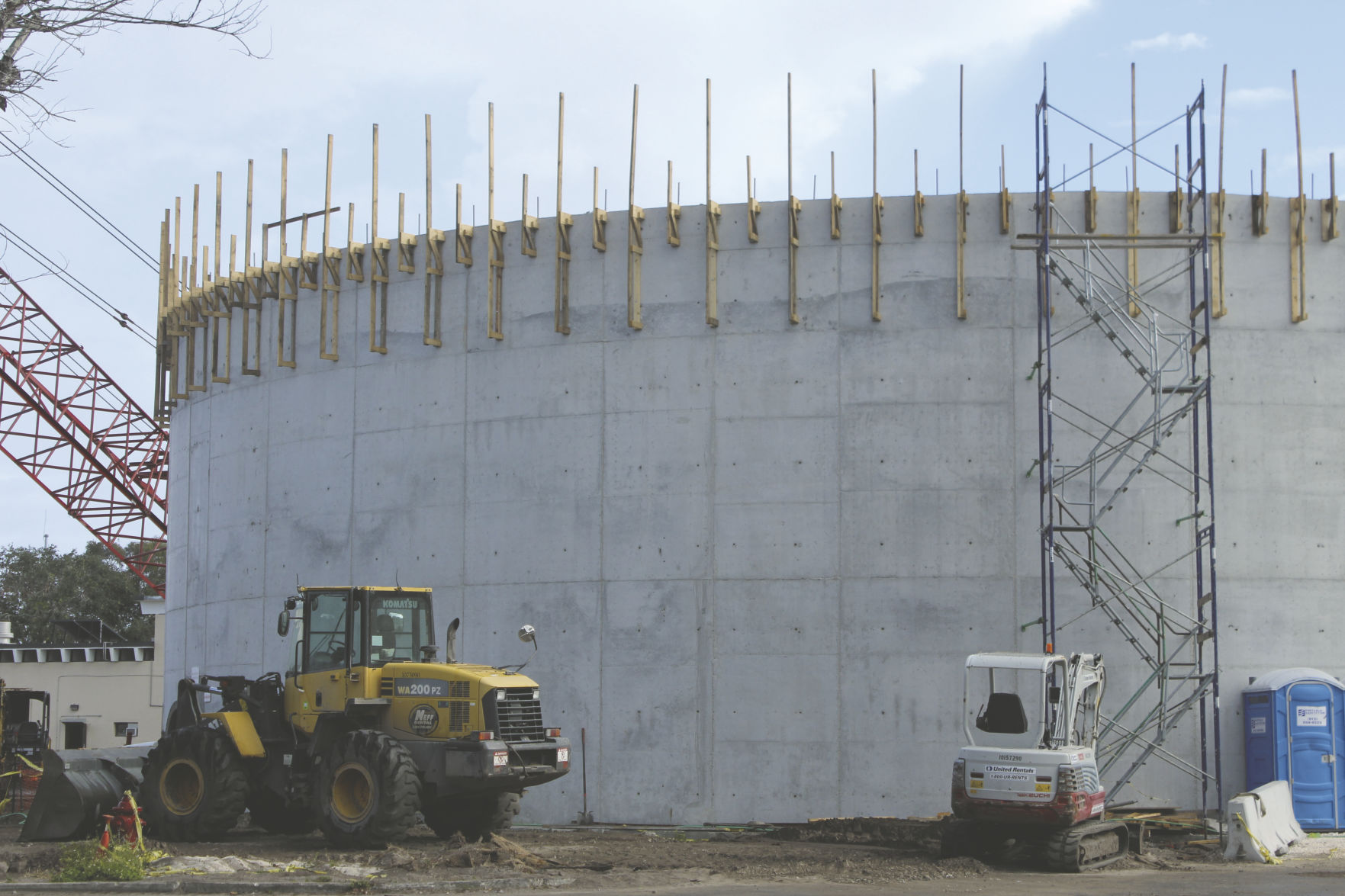 The Saint Petersburg Water Treatment Plant Is Currently Under Construction  For More Storage Tanks.