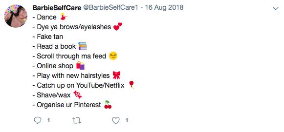 Self Care Tweet 1