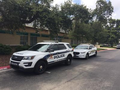 SPPD Police cars on campus