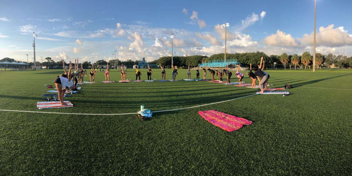 Mindful Yoga on Field