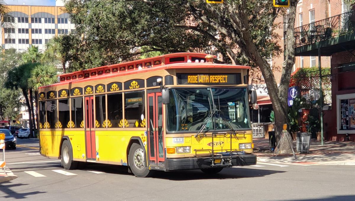 Public Transit: Central Avenue Trolley in Downtown St. Petersburg