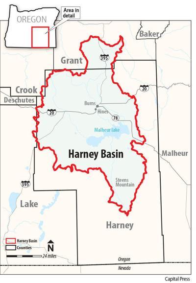 Harney Basin map