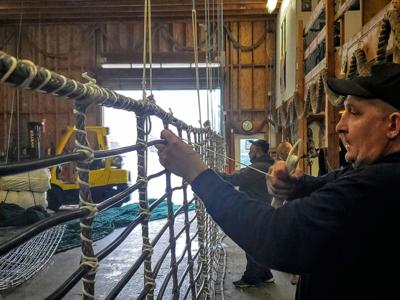 Making fishing nets is collaboration of craft and science