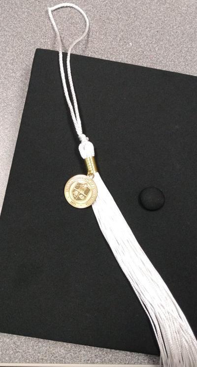 Graduation cap with tassel