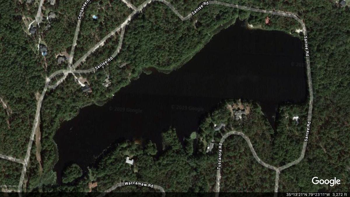 Aerial view of Warrior Woods Lake