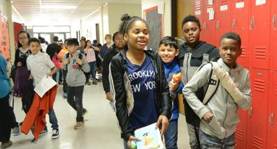 Students at the old Aberdeen Elementary School in 2018.