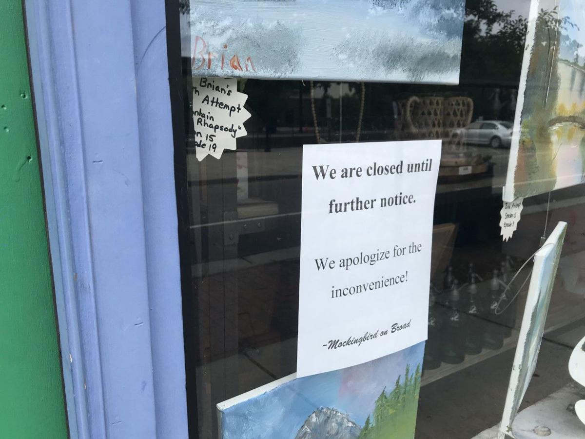 Mockingbird closed sign in window