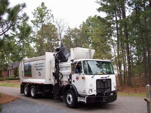 Pinehurst waste collection truck