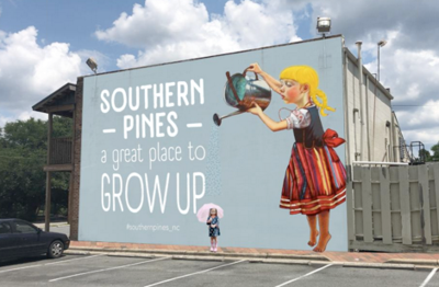 Southern Pines mural proposal