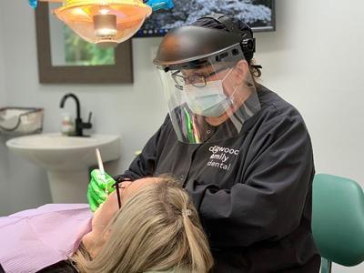 Dogwood Dental Hygienist at Work
