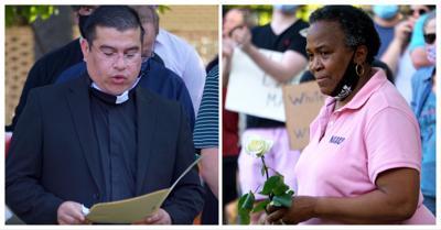 The Rev. Javier Castrejón, left, and O'Linda Watkins