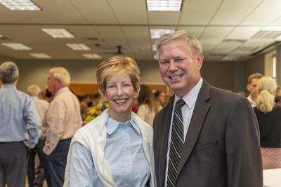David Kilarski with his wife Teri at his farewell reception on June 25, 2019.