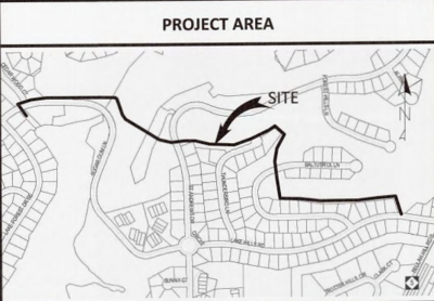 Pinehurst sewer project area