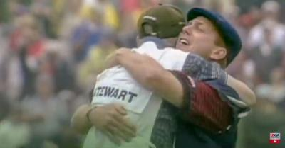 """Still from the Payne Stewart documentary """"1999 U.S. Open: One Moment in Time."""""""