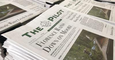 Hurricane Florence on the Front Page of The Pilot