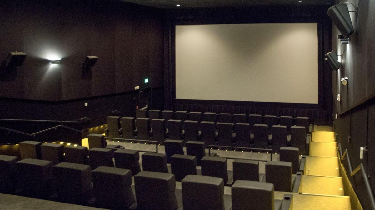 One of 10 renovated auditoriums at Paragon Sandhills in Southern Pines