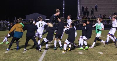 The Pinecrest men's soccer team won the Sandhills Athletic Conference tournament championship