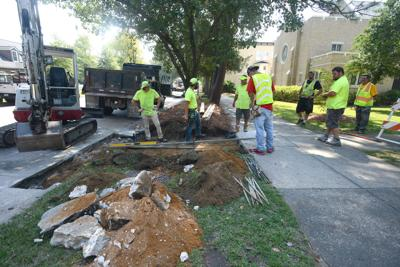 Southern Pines sidewalk work