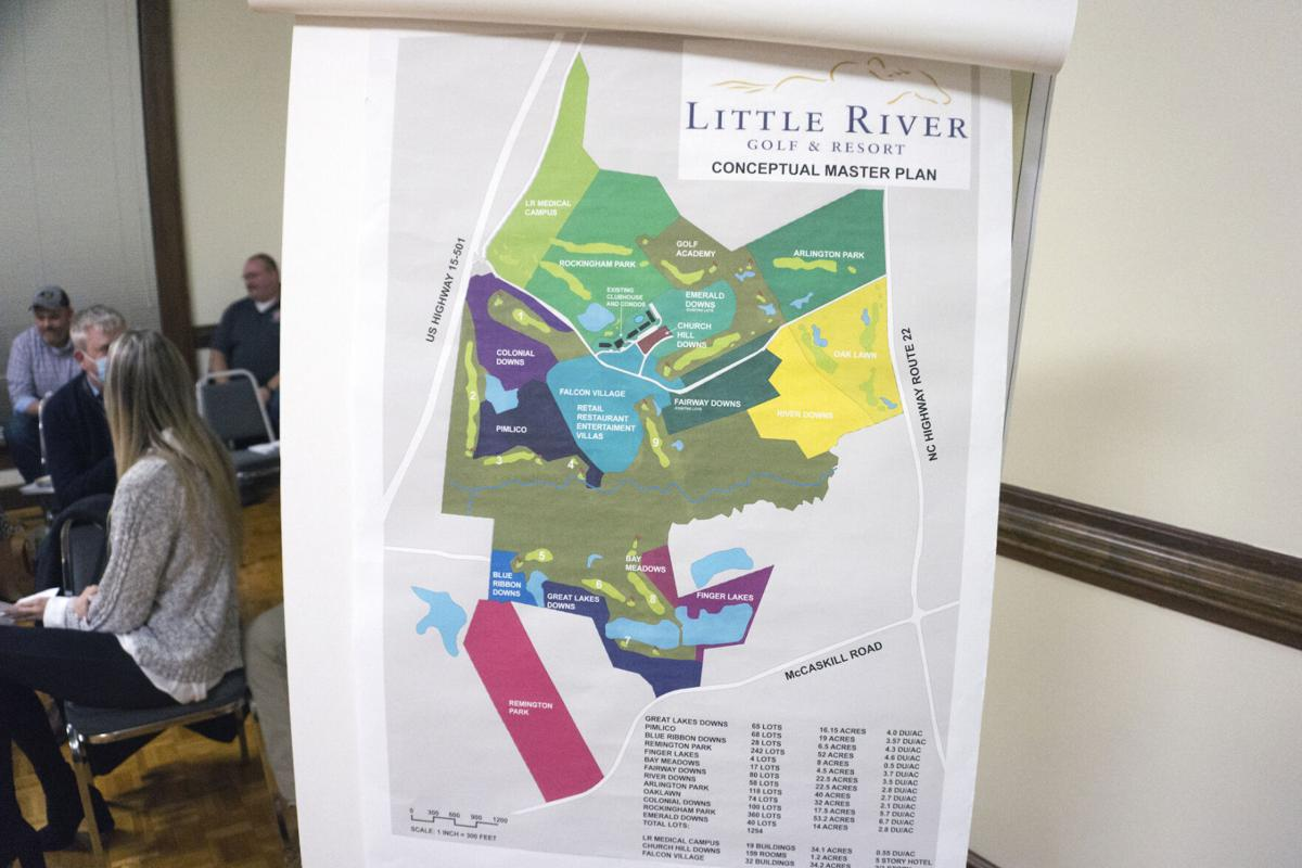 "The ""conceptual master plan"" for Little River on display during a meeting of the Carthage Board of Commissioners on Feb. 15, 2021."