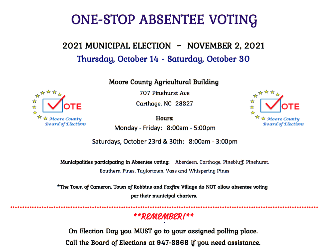 One Stop Voting flyer