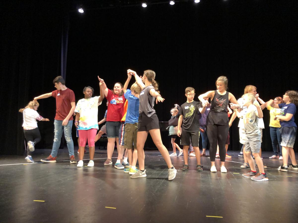 Broadway camp rehearsal