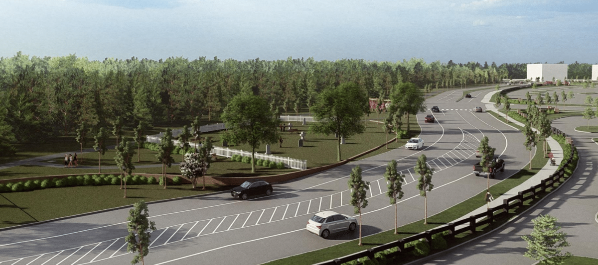 Target proposed cemetery park
