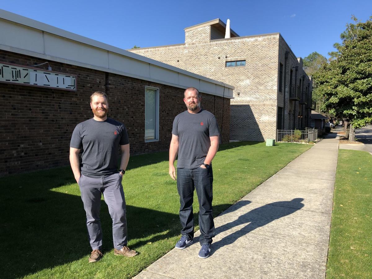 Greg Walker, left, and Mike Carey of Hatchet Brewing