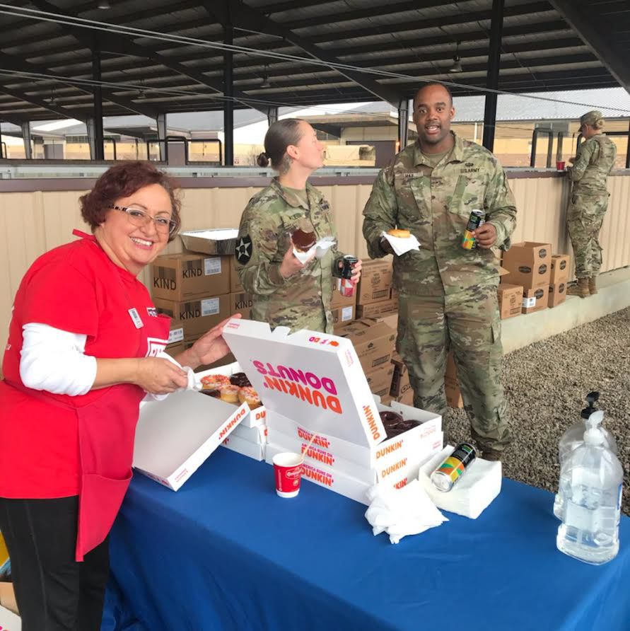 Dunkin donuts for troops
