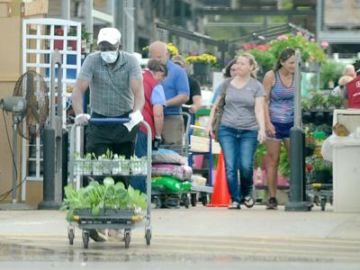 Shoppers at Lowe's Home Improvement in Southern Pines