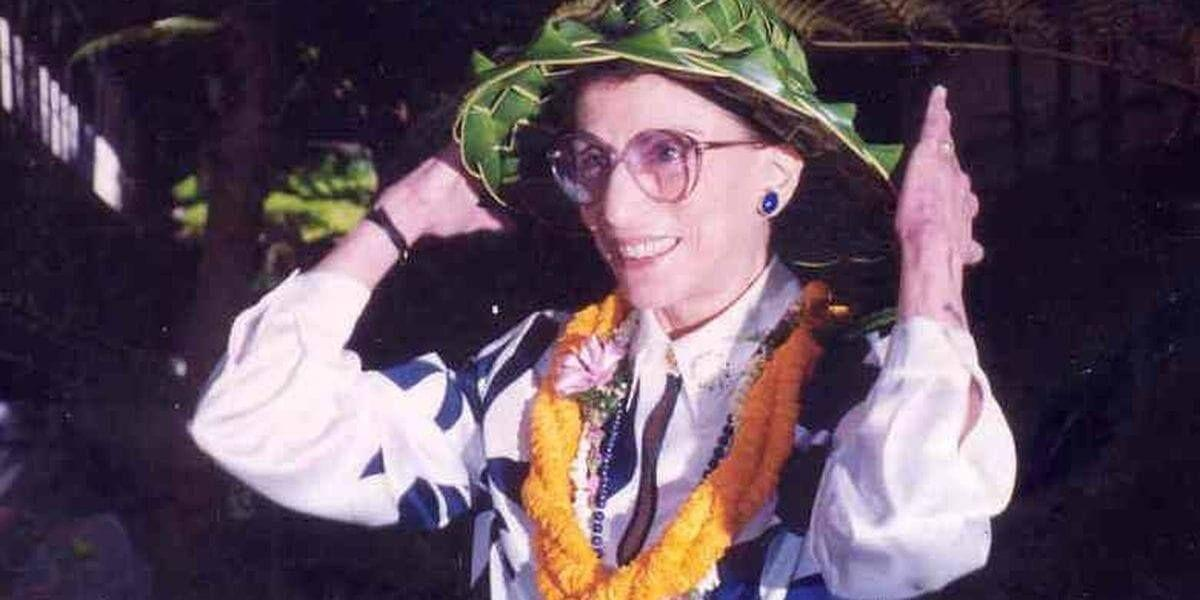 Justice Ruth Bader Ginsburg during her residency at the University of Hawaii in 1998