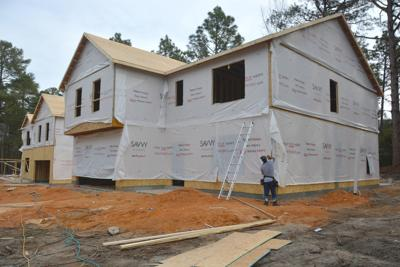 A home under construction in Pinehurst
