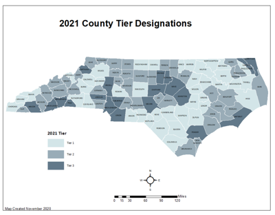 2021 County Tier Designations