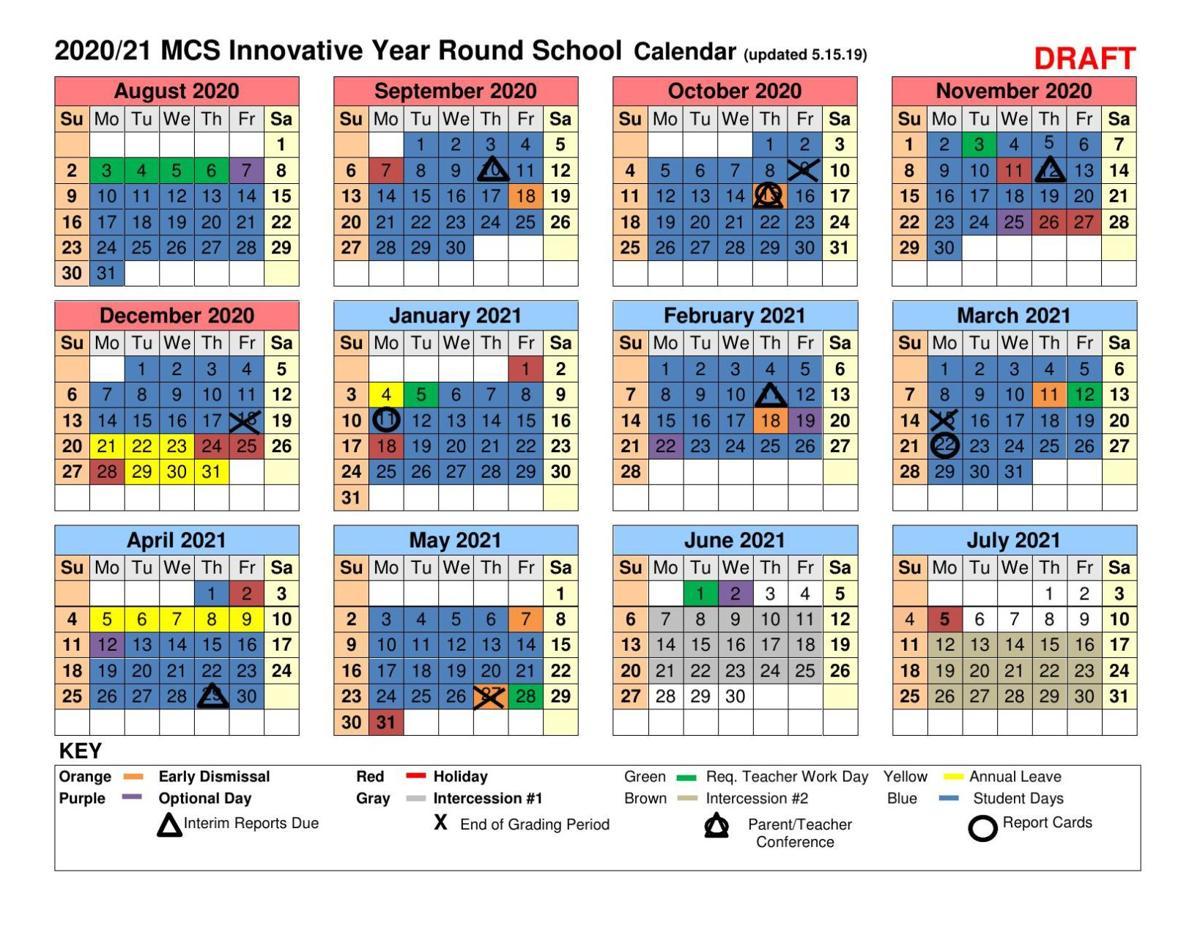 Moore County Schools Proposed 2020-2021 Calendar | | thepilot com