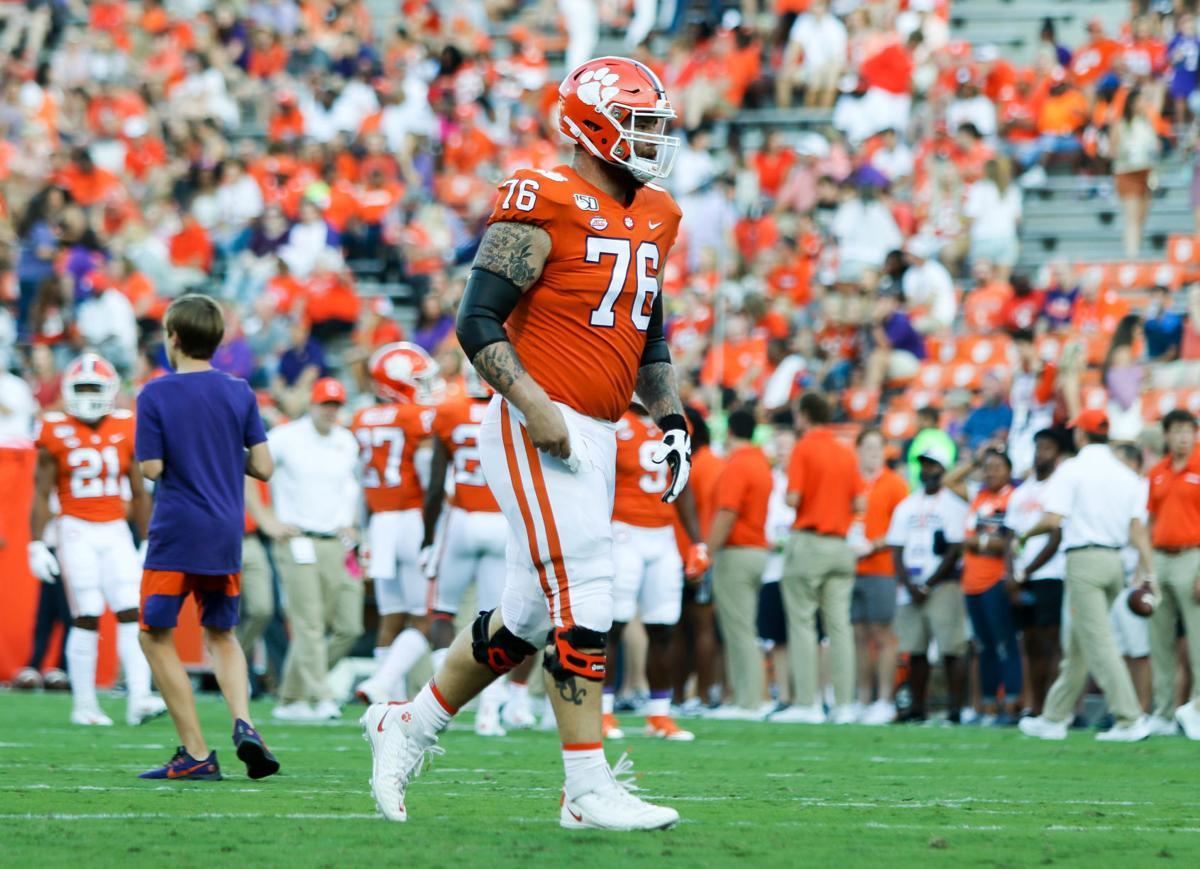 Sean Pollard during the Clemson Tigers' home game against Charlotte on Sept. 21.
