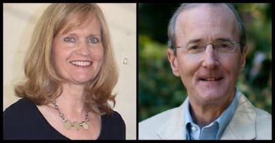 Claire Berggren, left, and John Strickland