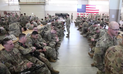 82nd Airborne troops prepare to deploy