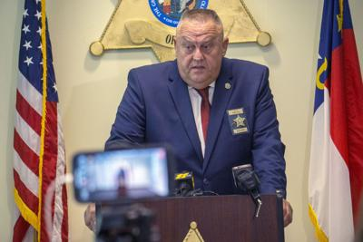 Sheriff Ronnie Fields holds a news conference on July 14, 2021.