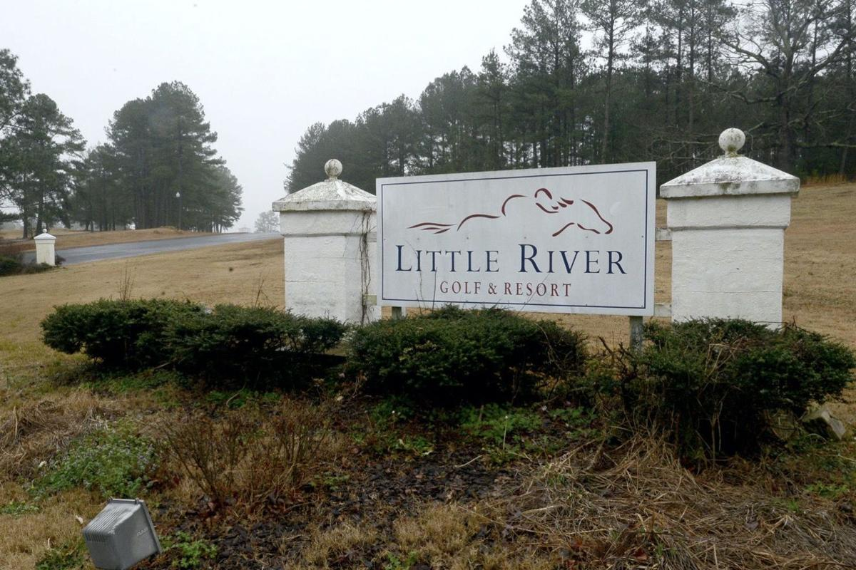 Sign at Little River Golf and Resort in Carthage.