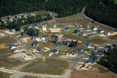 Aerial view of the Summerfield and part of the Arrowstone neighborhoods in Whispering Pines.