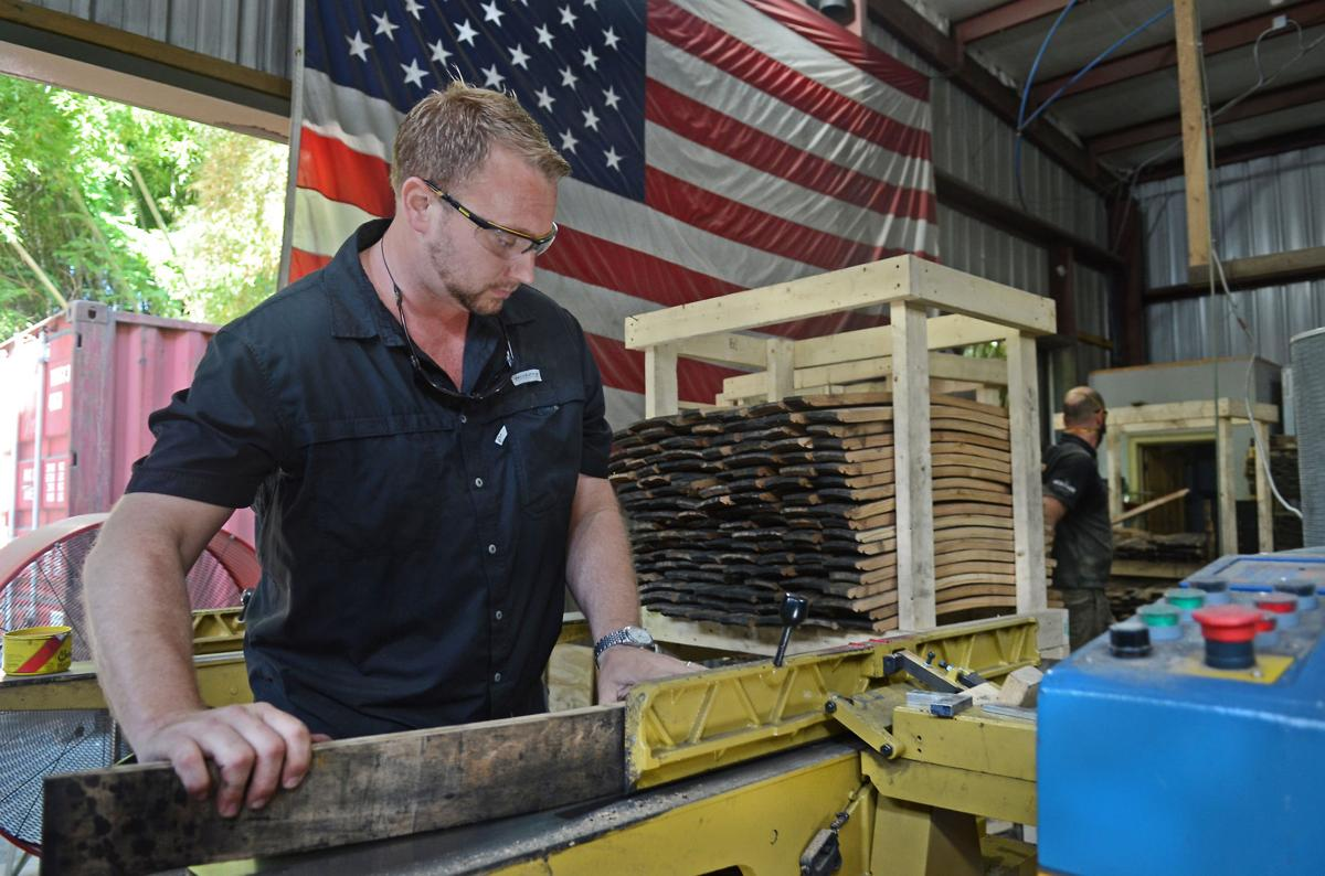 Heath Trigg In The Heritage Flag Company Workshop On Bennett Street Southern Pines