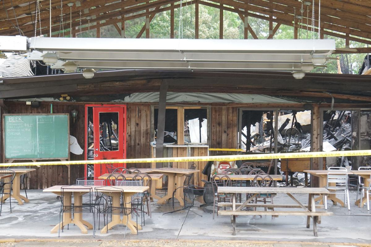 Damage from the fire that devoured Pik 'N Pig in Carthage on May 30, 2021.